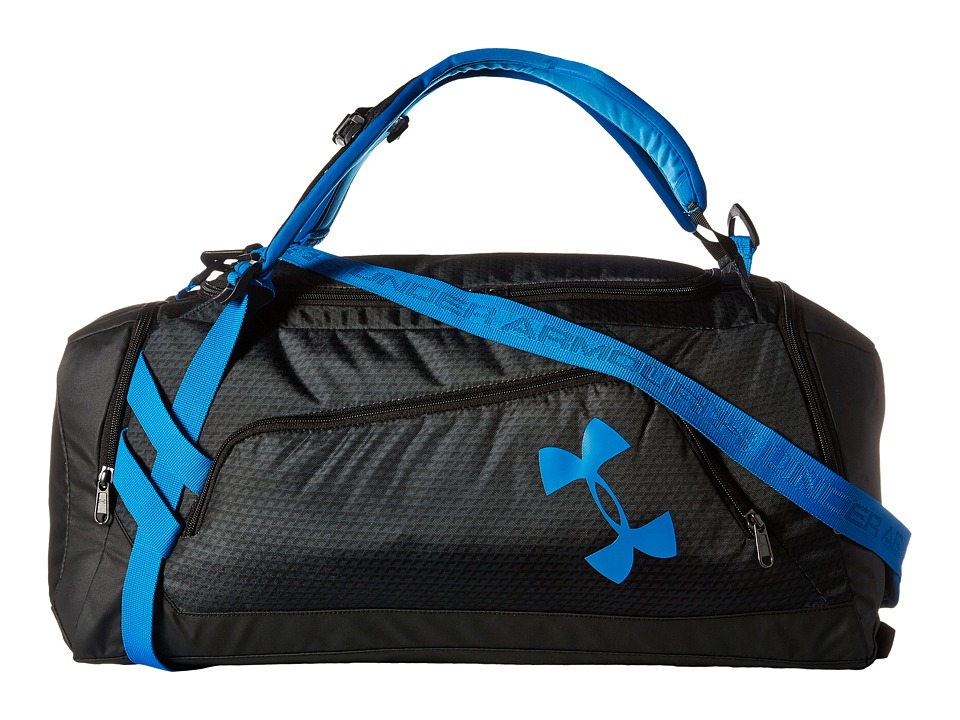 Under Armour - UA Contain Duo Backpack/Duffel (Black/Stealth Gray/Electric Blue) Duffel Bags