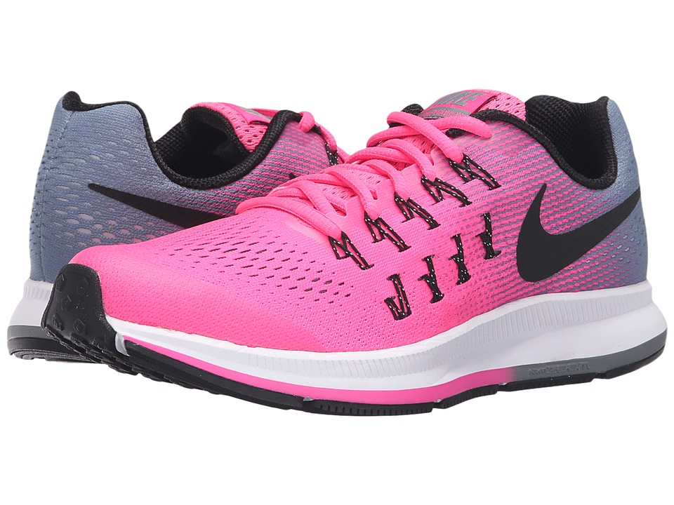 Nike Kids - Zoom Pegasus 33 (Little Kid/Big Kid) (Pink Blast/Black/Cool Grey/White) Girls Shoes