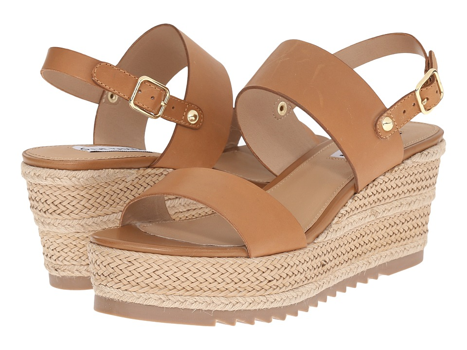 Steve Madden - Waria (Natural Leather) Women's Wedge Shoes