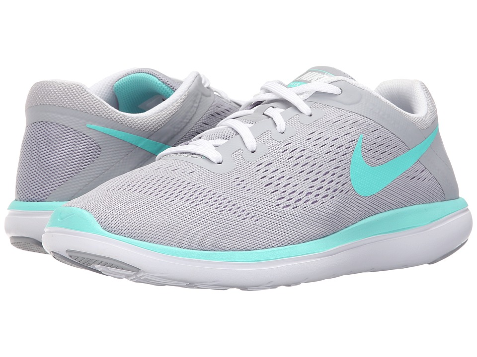 Nike Kids - Flex 2016 RN (Big Kid) (Wolf Grey/Hyper Turquoise/White/Urban Lilac) Girls Shoes