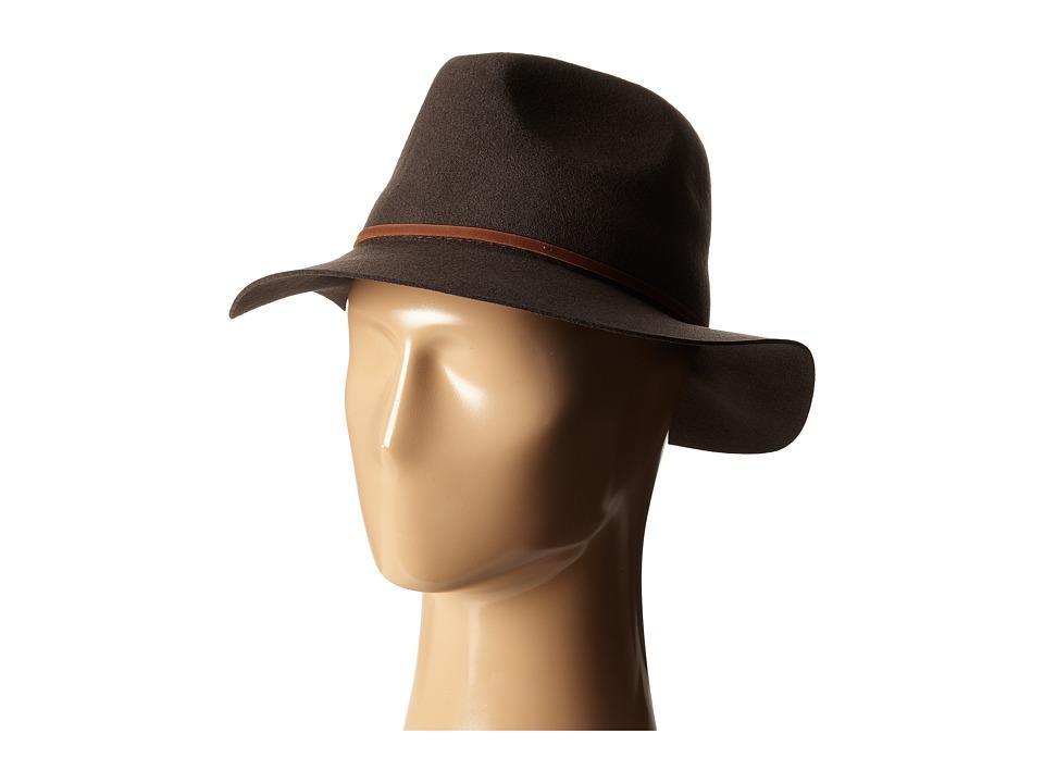 Brixton - Wesley Fedora (Chocolate) Traditional Hats