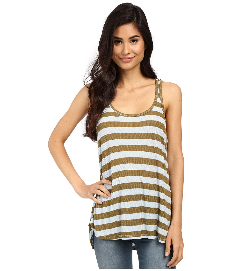 Volcom - Lived In Rib Tank Top (Army) Women
