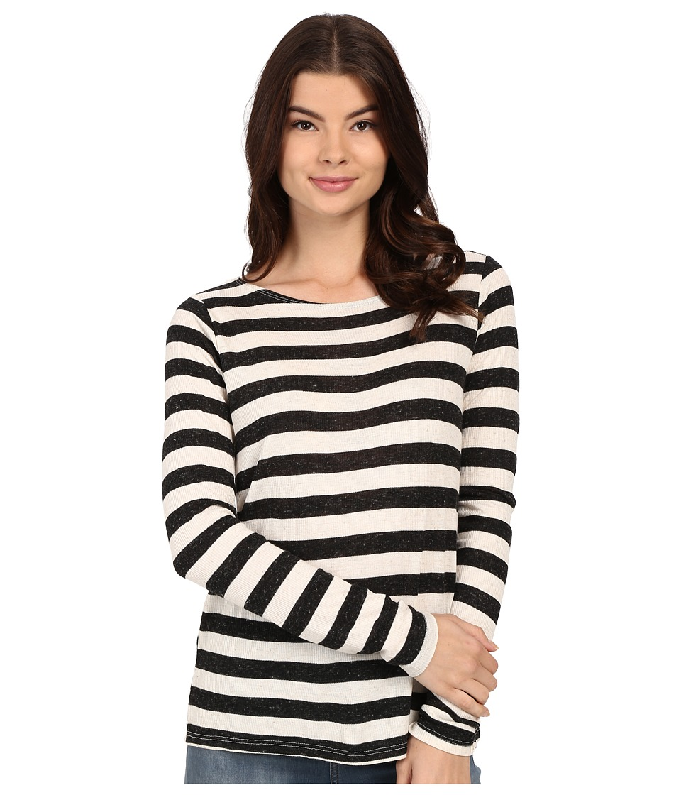 Volcom - Lived in Rib Long Sleeve Top (Black) Women's T Shirt