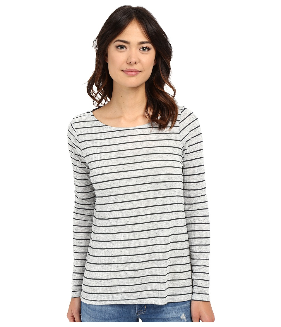 Volcom - Lived in Rib Long Sleeve Top (Heather Grey) Women's T Shirt