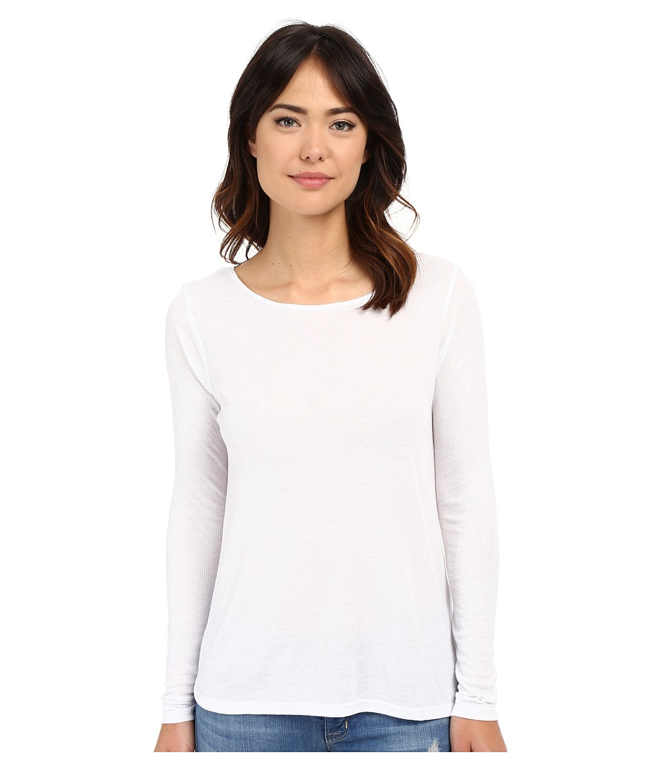 Volcom Lived in Rib Long Sleeve Top (White) Women