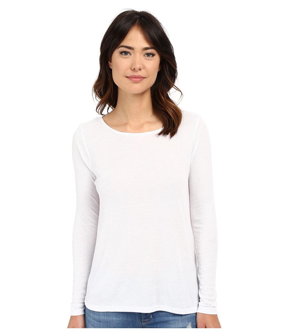 Volcom - Lived in Rib Long Sleeve Top (White) Women's T Shirt