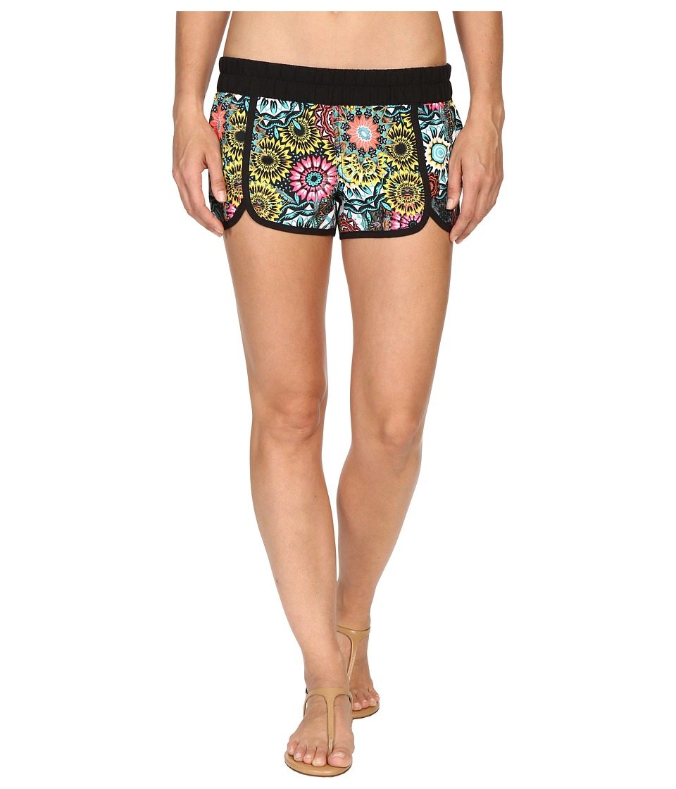 Hurley - Supersuede Printed Scallop Beachrider Boardshorts (Hyper Jade) Women's Swimwear