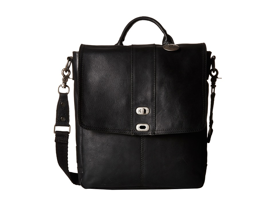 Will Leather Goods - North/South Cross body (Black) Handbags