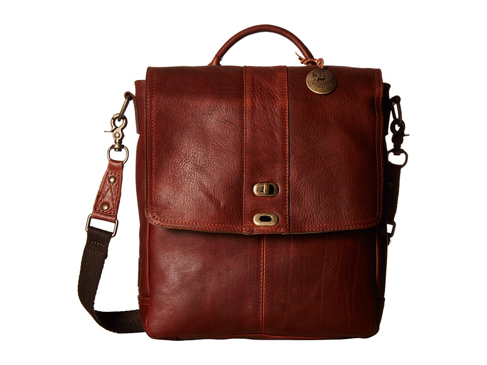 Will Leather Goods - North/South Cross body (Cognac) Handbags
