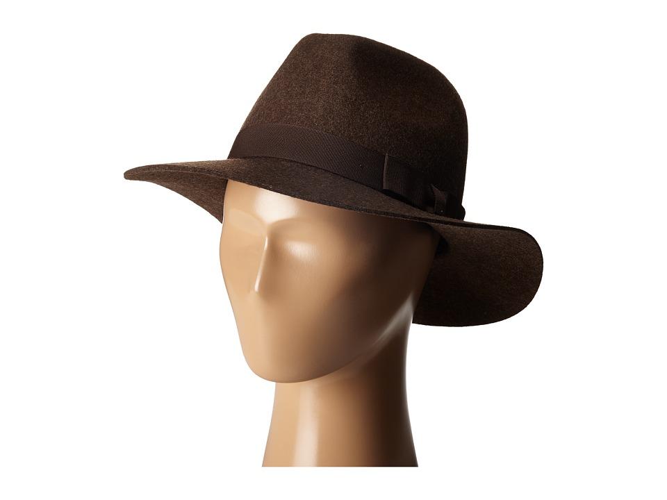 Brixton - Indiana Fedora (Heather Brown) Fedora Hats