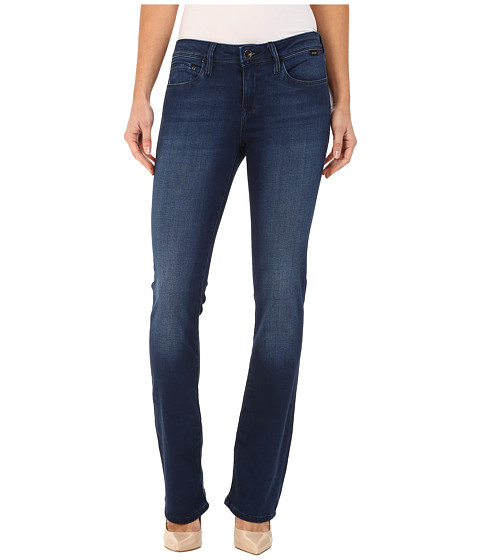 Mavi Jeans - Leigh in Dark Sateen Gold/Dark Blue (Dark Sateen Gold/Dark Blue) Women's Jeans
