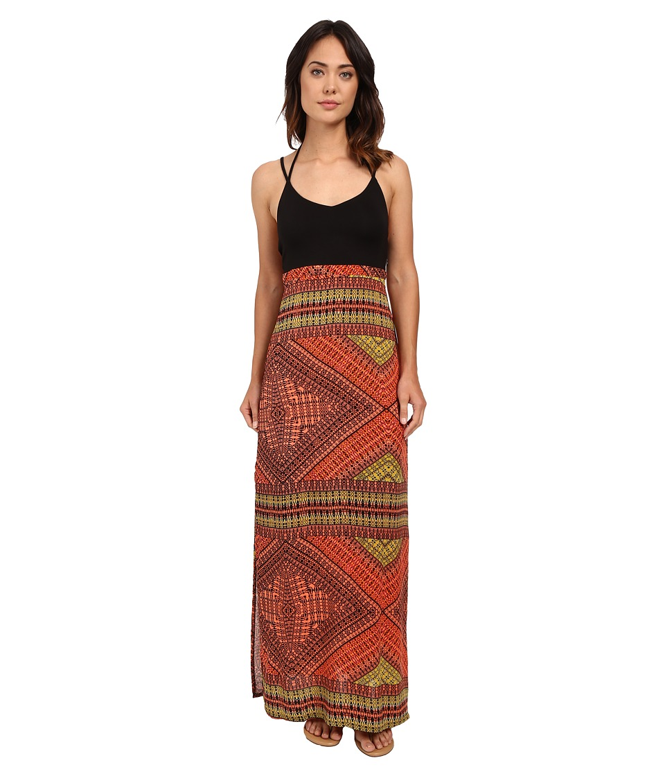 Hurley - Ruby Maxi Dress (Bright Mango) Women's Dress
