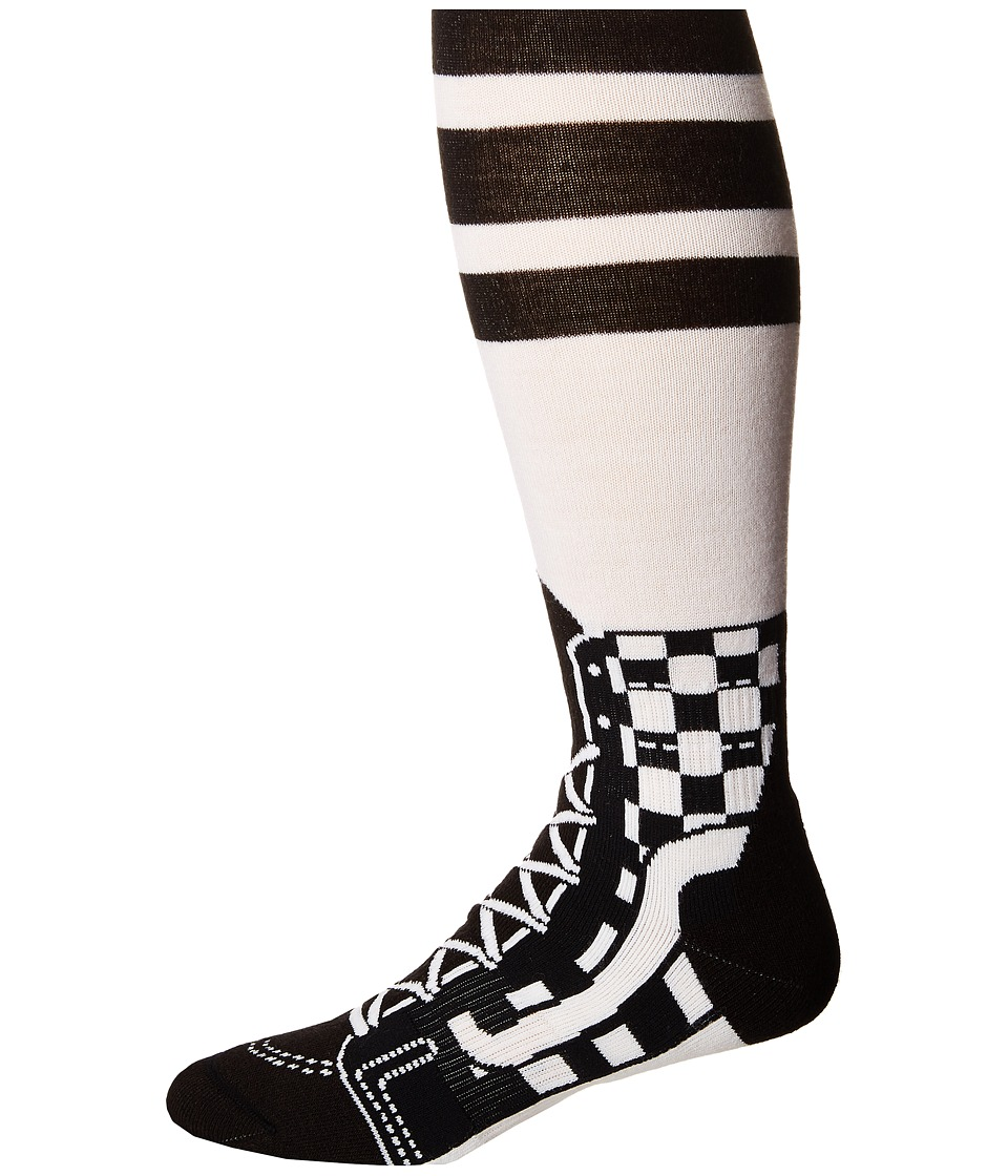 Vans - Good Times Snow Sock (Black/White) Men's Low Cut Socks Shoes