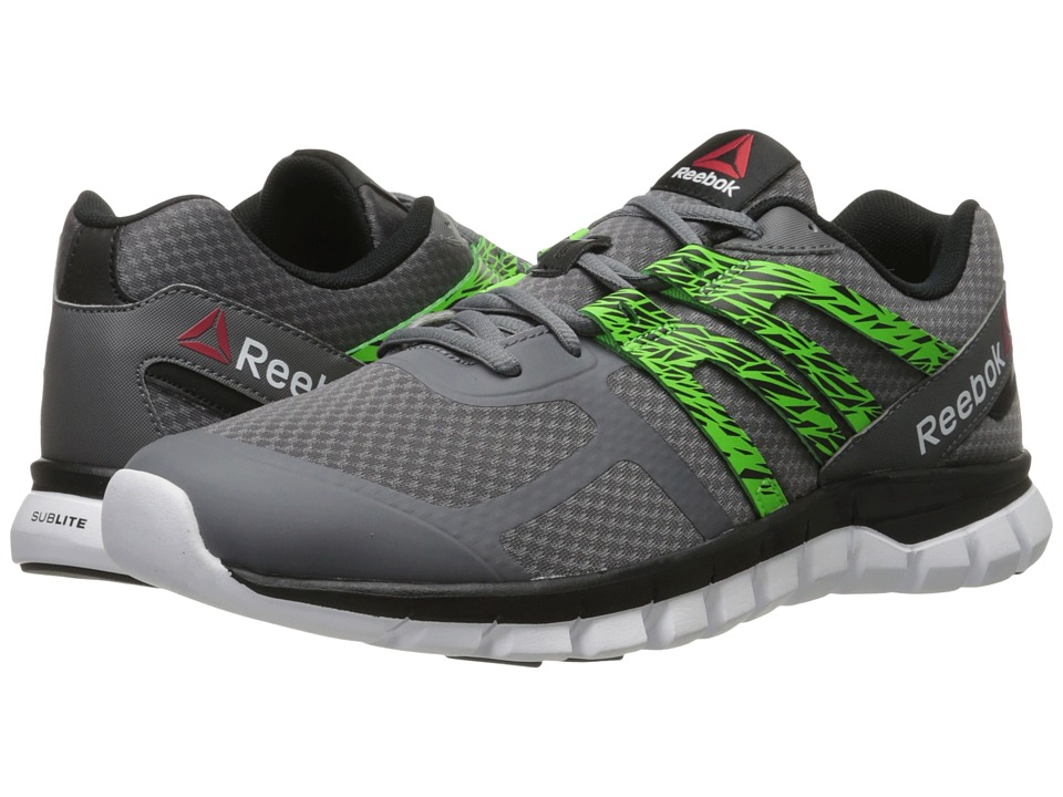 Reebok - Sublite XT Cushion MT (Shark/Black/Solar Green/White) Men's Cross Training Shoes