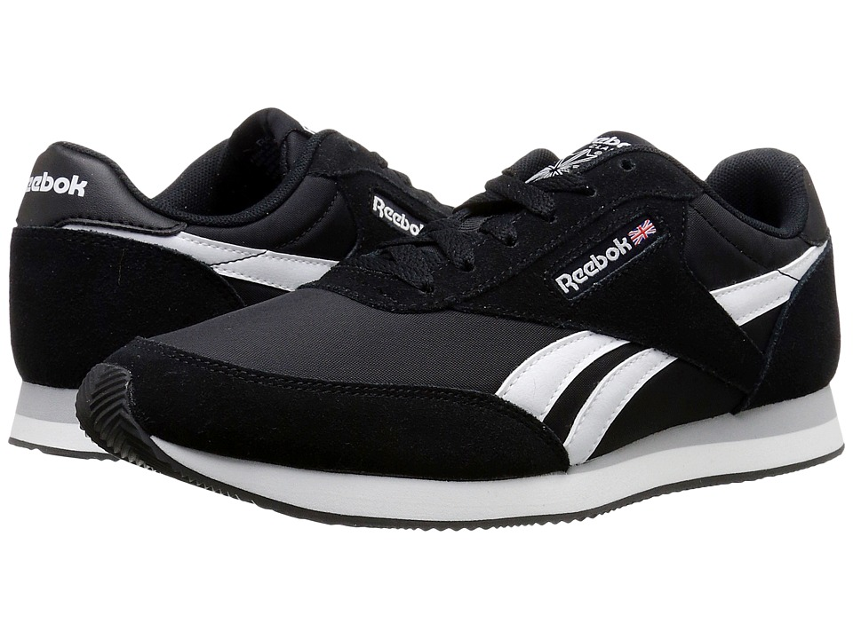 Reebok - Royal CL Jogger 2 (Black/White/Baseball Grey) Men's Shoes