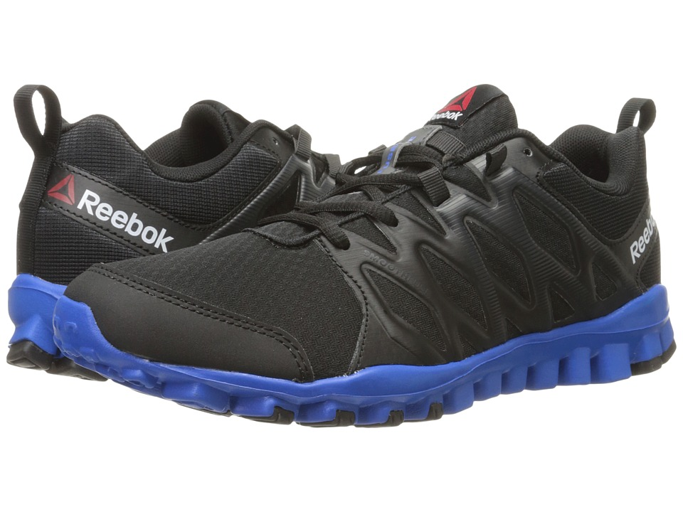 Reebok - RealFlex Train 4.0 (Black/Coal/Blue Sport) Men's Cross Training Shoes