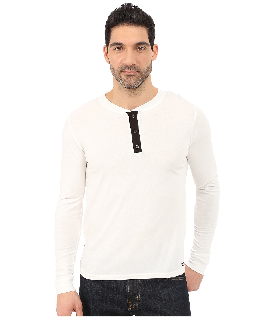 UNCL - House Henley 2.0 (White) Men's T Shirt