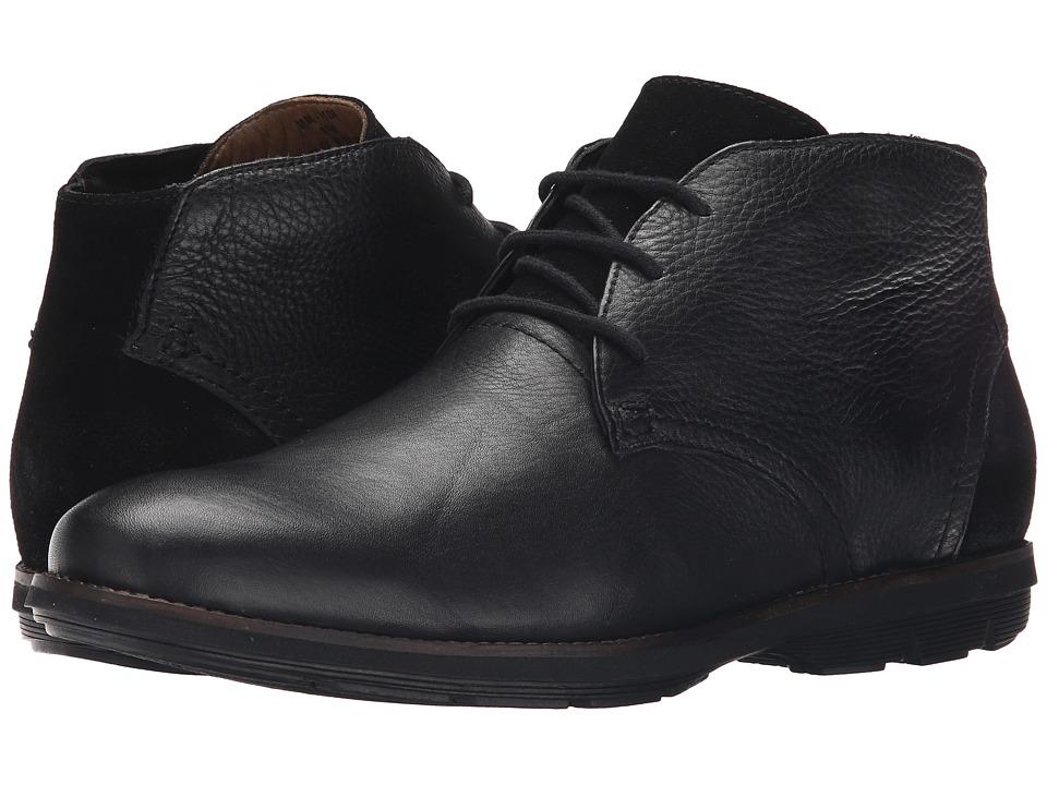 Massimo Matteo - Three Eye Chukka Boot (Black) Men's Lace-up Boots