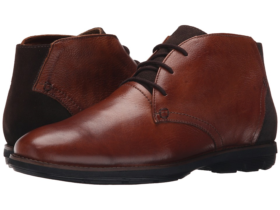 Massimo Matteo - Three Eye Chukka Boot (Cognac) Men's Lace-up Boots