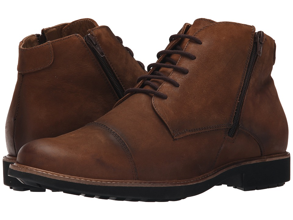 Massimo Matteo - 5I Double Zip Chukka Boot (Tan) Men's Lace-up Boots