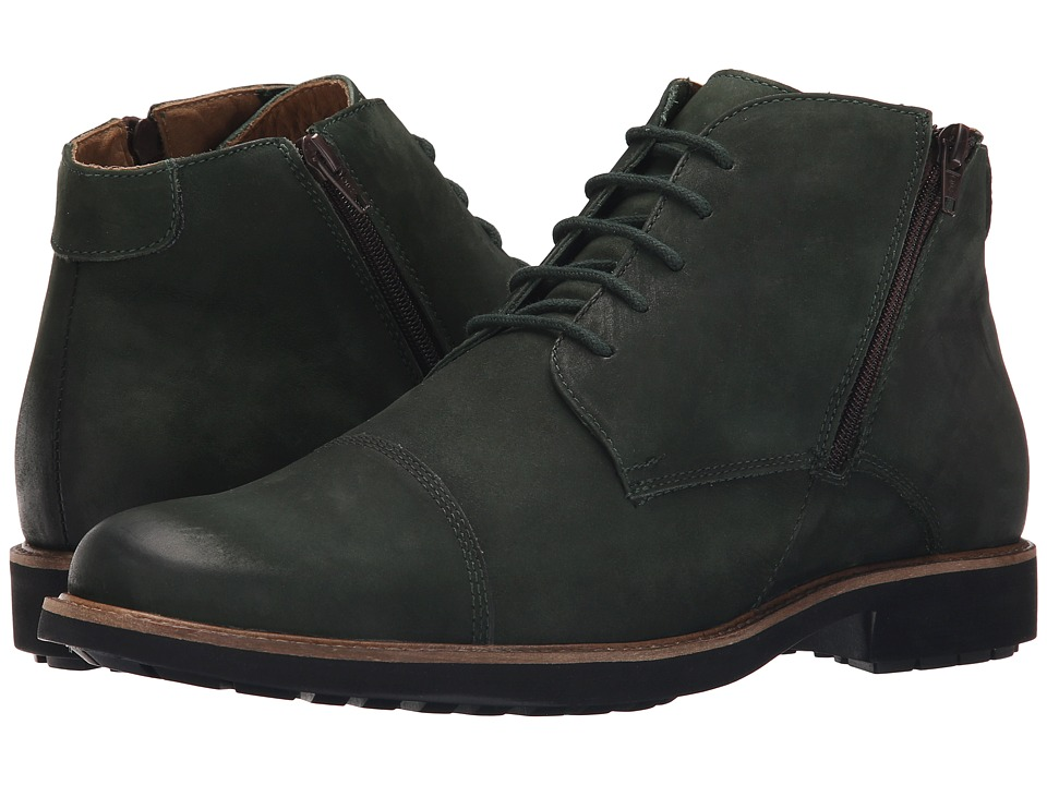 Massimo Matteo - 5I Double Zip Chukka Boot (Verde) Men's Lace-up Boots