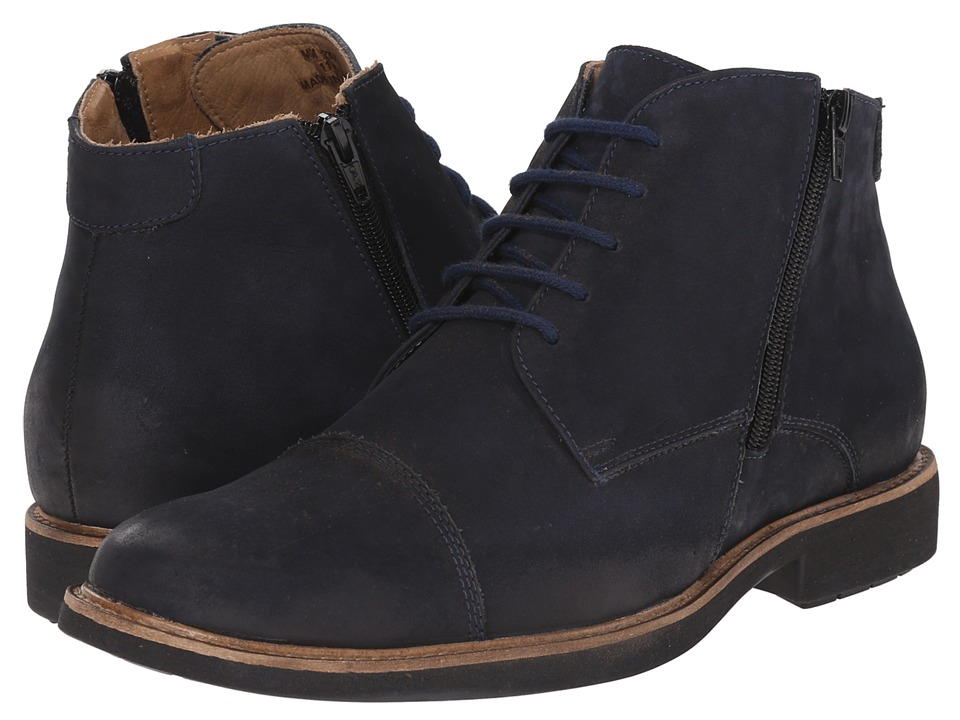 Massimo Matteo - 5I Double Zip Chukka Boot (Marinho) Men's Lace-up Boots