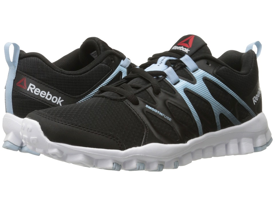 Reebok - RealFlex Train 4.0 (Black/Zee Blue/White) Women's Cross Training Shoes