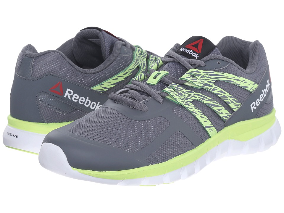 Reebok - Sublite XT Cushion MT (Alloy/Luminous Lime/White) Women's Running Shoes
