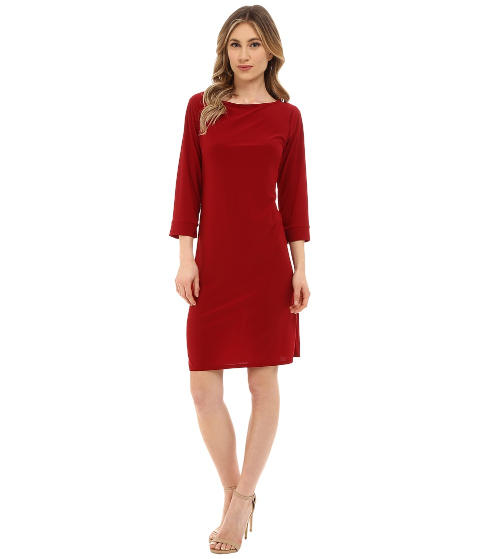 rsvp - Susan Shift Dress (Burgundy) Women's Dress
