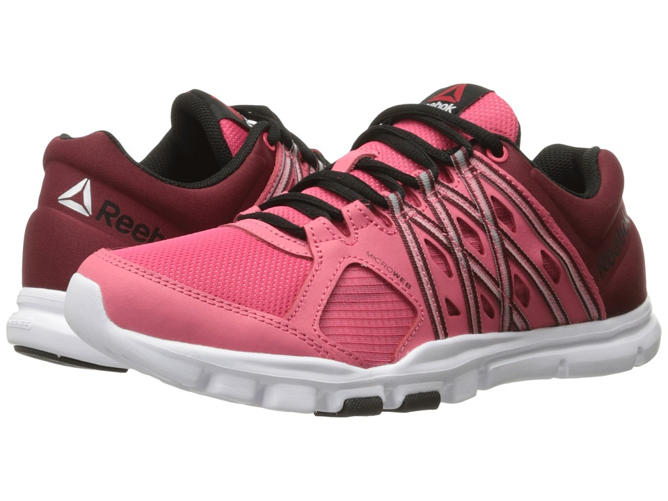 Reebok - YourFlex Trainette 8.0 L MT (Fearless Pink/Merlot/Black/White) Women's Cross Training Shoes