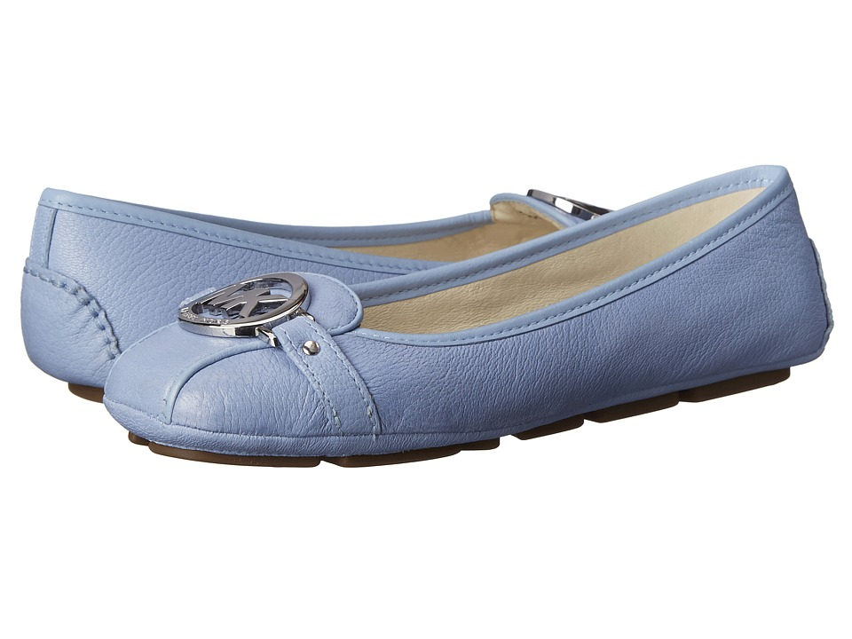 MICHAEL Michael Kors - Fulton Moc (Light Sky Tumbled Leather) Women's Slip on Shoes