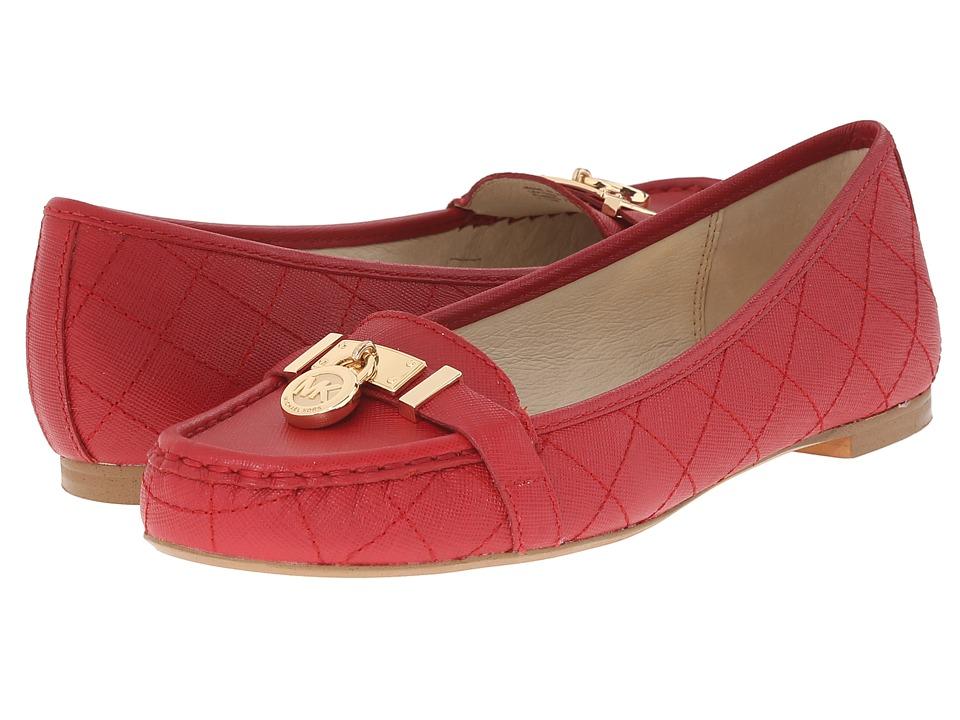MICHAEL Michael Kors - Hamilton Moc (Red Saffiano) Women's Slip on Shoes