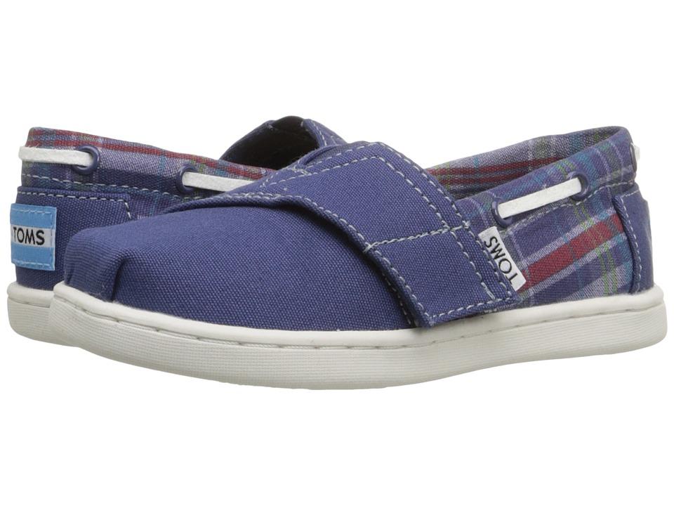 TOMS Kids - Bimini Espadrille (Infant/Toddler/Little Kid) (Navy Canvas Plaid) Kids Shoes