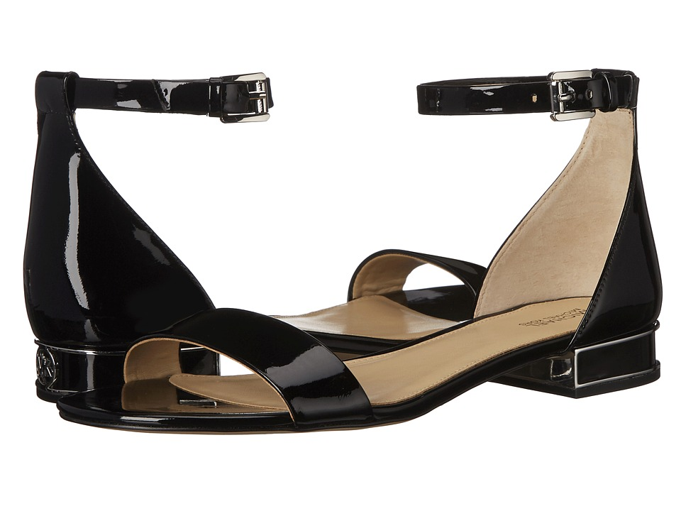 MICHAEL Michael Kors - Joy Flat Sandal (Black Patent) Women's Sandals