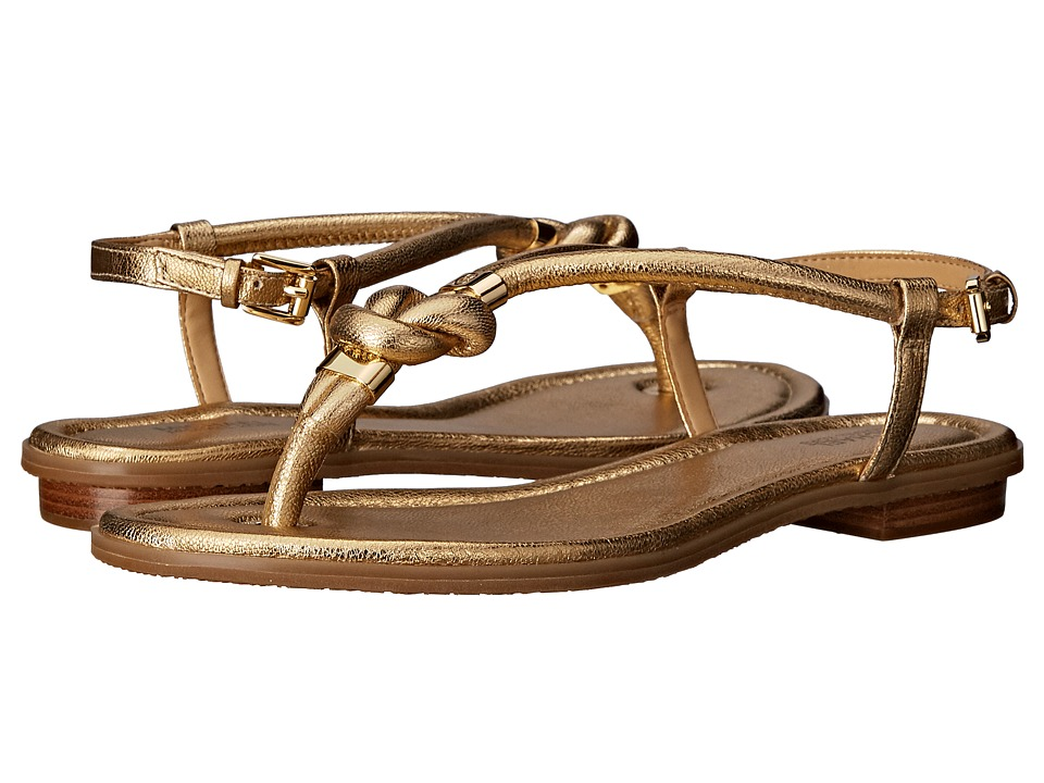 MICHAEL Michael Kors - Holly Sandal (Pale Gold Tumbled Metallic) Women's Sandals