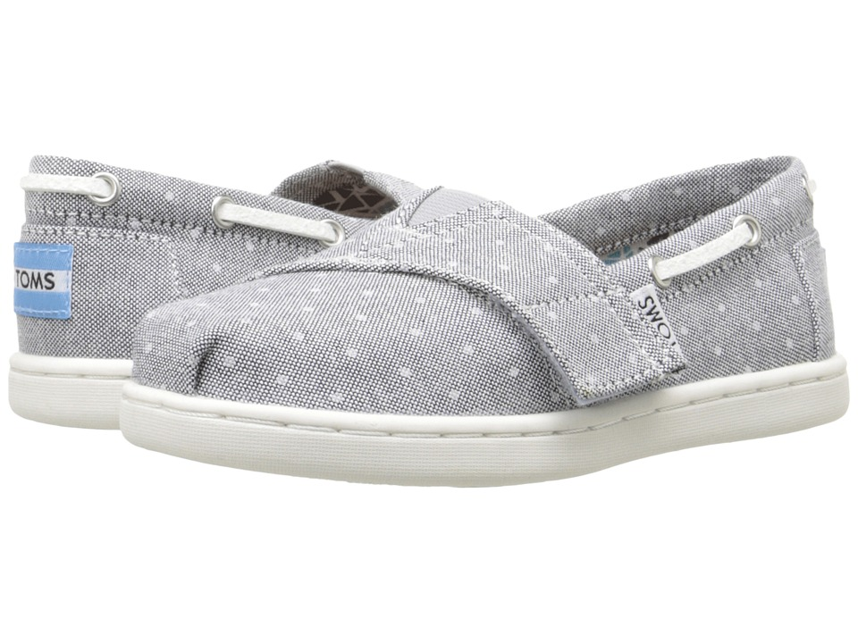 TOMS Kids - Bimini Espadrille (Infant/Toddler/Little Kid) (Grey Chambray Polka Dot) Kids Shoes