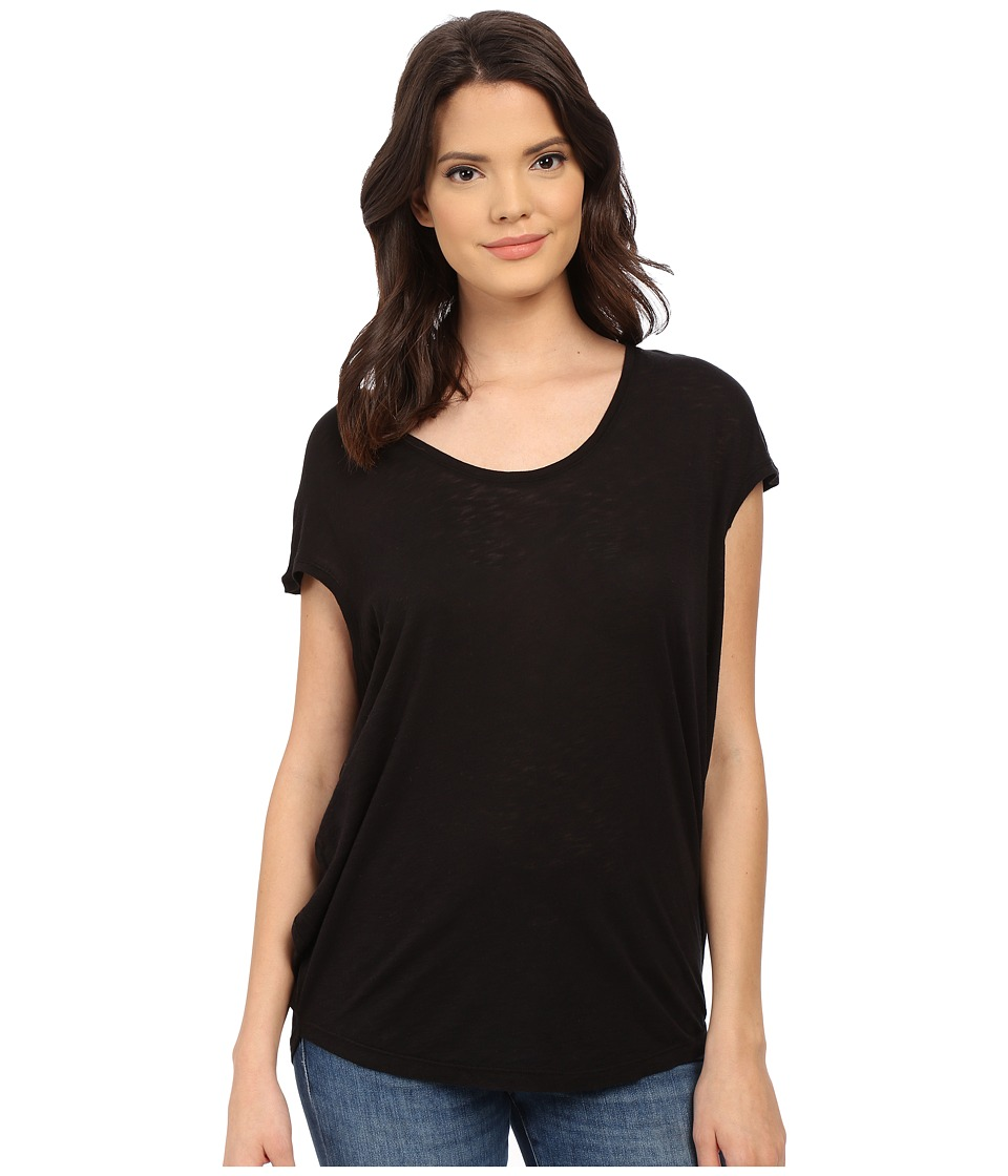 Splendid - Slub Jersey Circle Tee (Black) Women's T Shirt