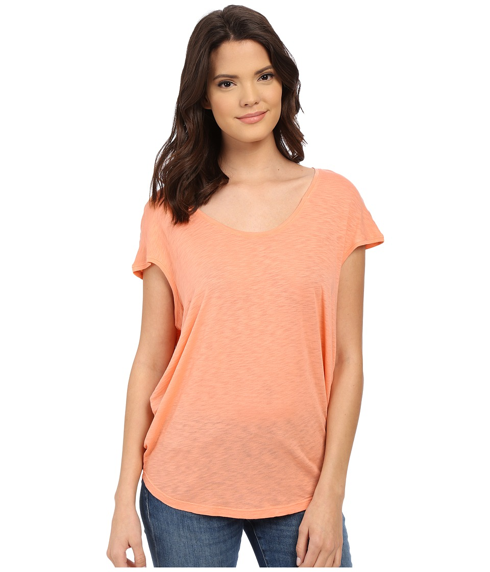 Splendid - Slub Jersey Circle Tee (Peach Bud) Women's T Shirt