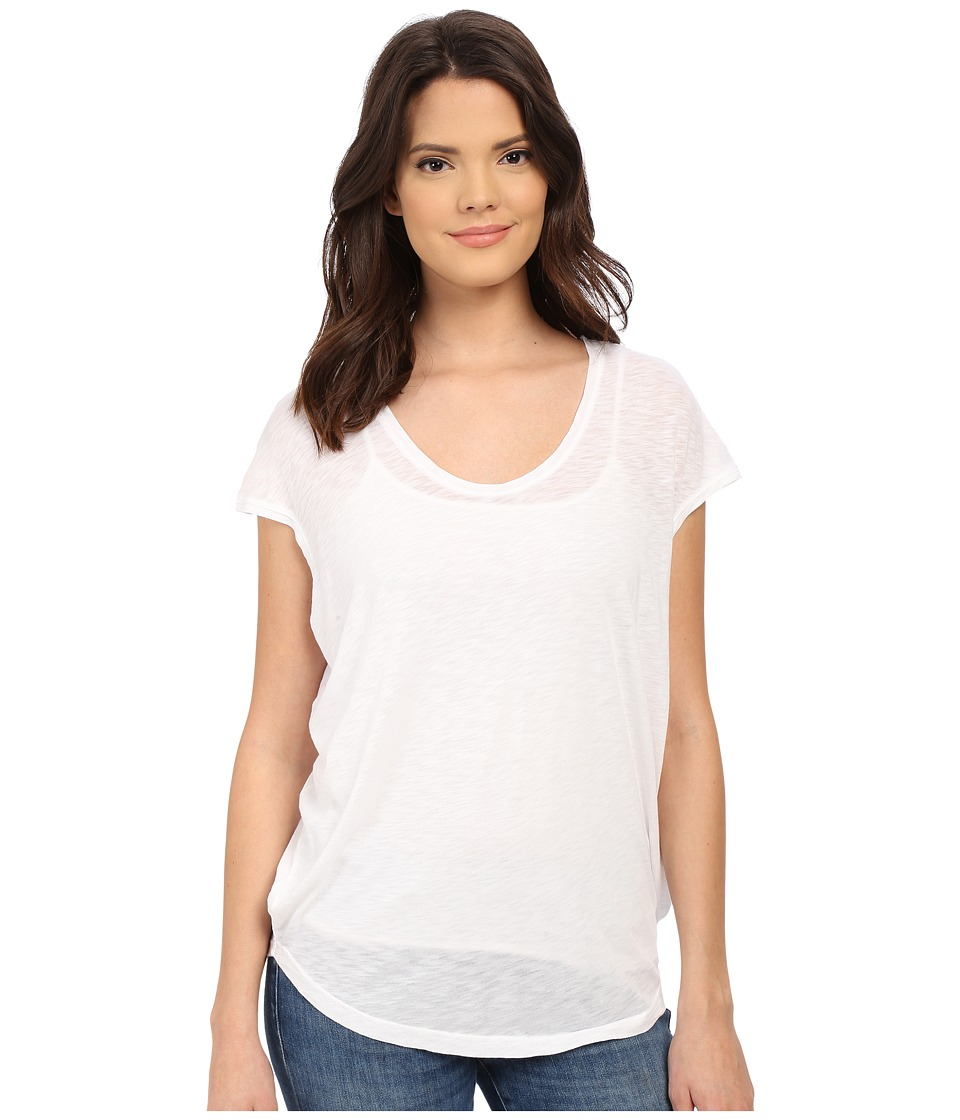 Splendid Slub Jersey Circle Tee (White) Women