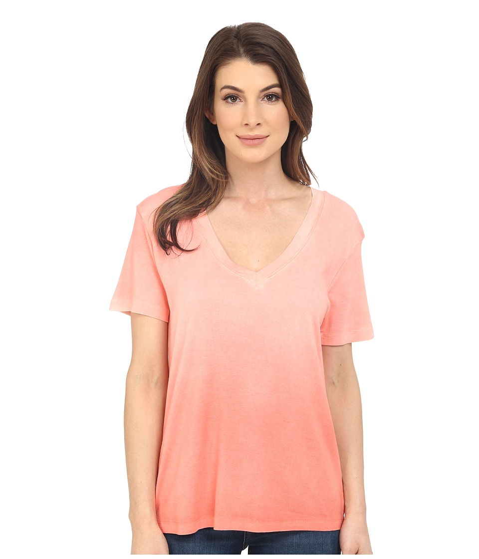 Splendid - 1X1 with Treatment Tee (Peach Bud) Women's T Shirt