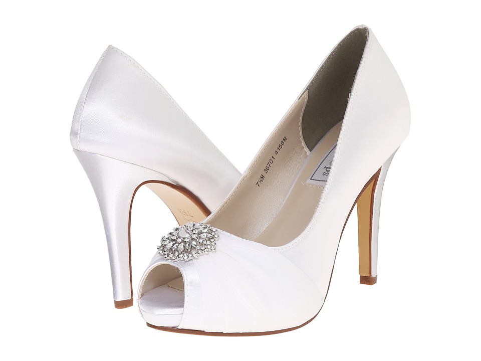 Touch Ups - Antonia (White Satin) Women's Shoes