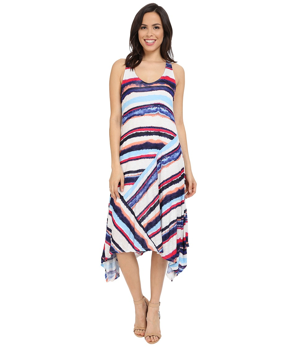 Splendid Mirage Strip Dress (Navy/Multi) Women