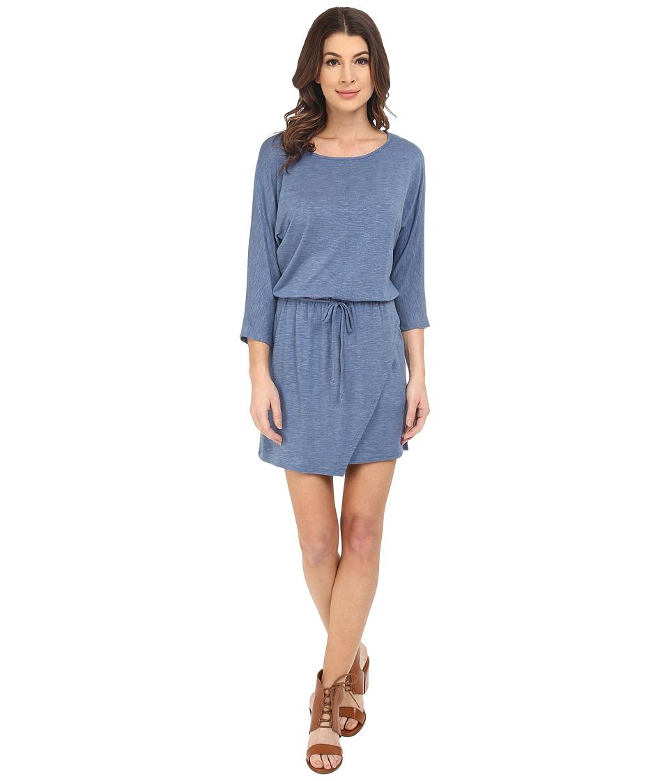 Splendid - Heathered Spandex Jersey Dress (Heather Denim) Women's Dress