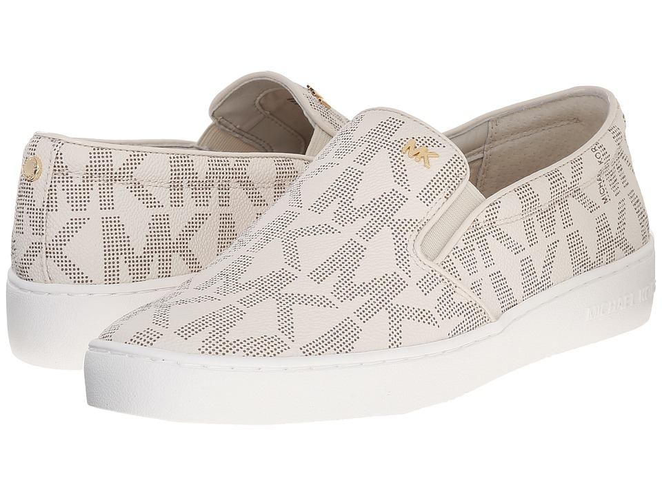 MICHAEL Michael Kors - Keaton Slip-On (Vanilla Mk Sig Pvc) Women's Slip on Shoes
