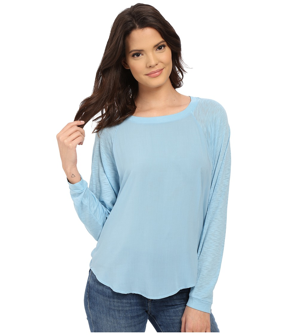 Splendid - Slub and Rayon Dolman (Sky Blue) Women's Clothing