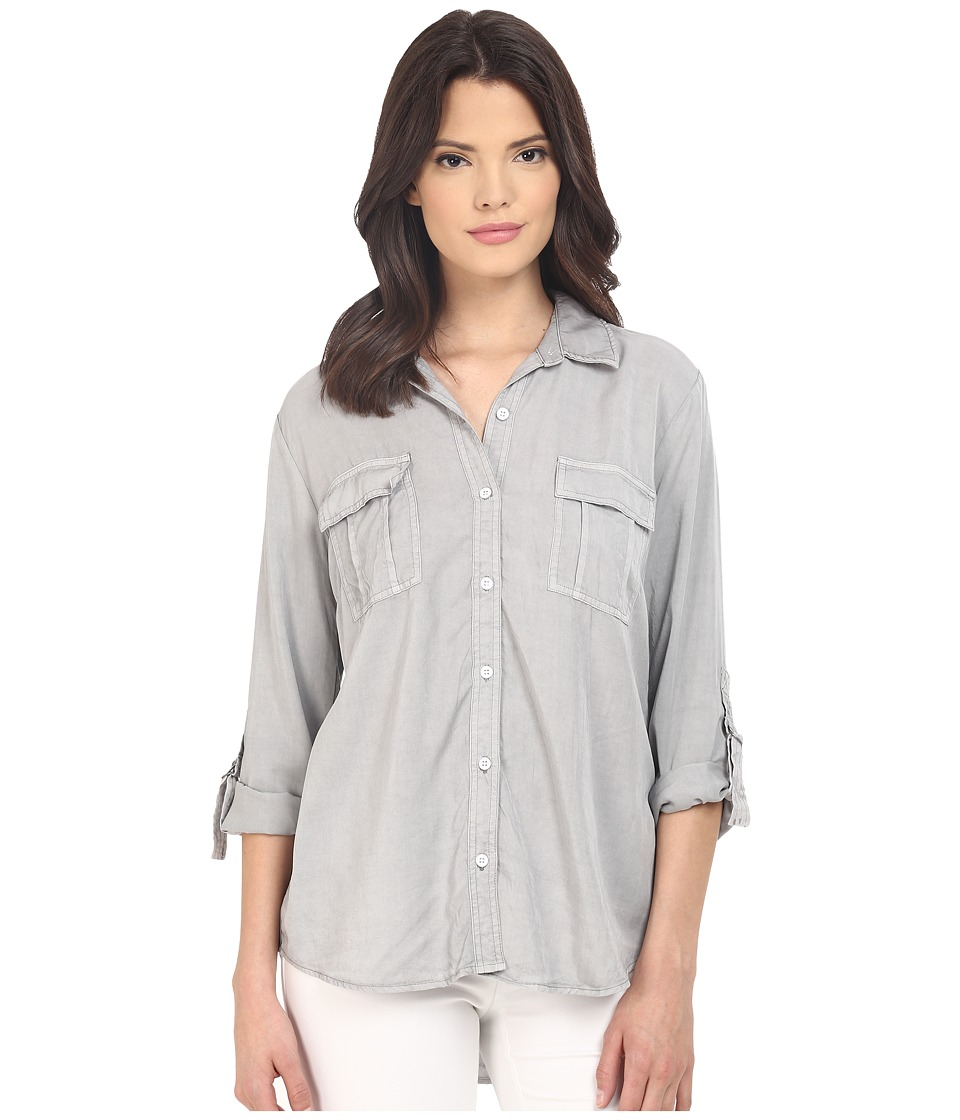 Splendid - Laguna Tencel Shirt (Vintage Dove Grey) Women's Long Sleeve Button Up