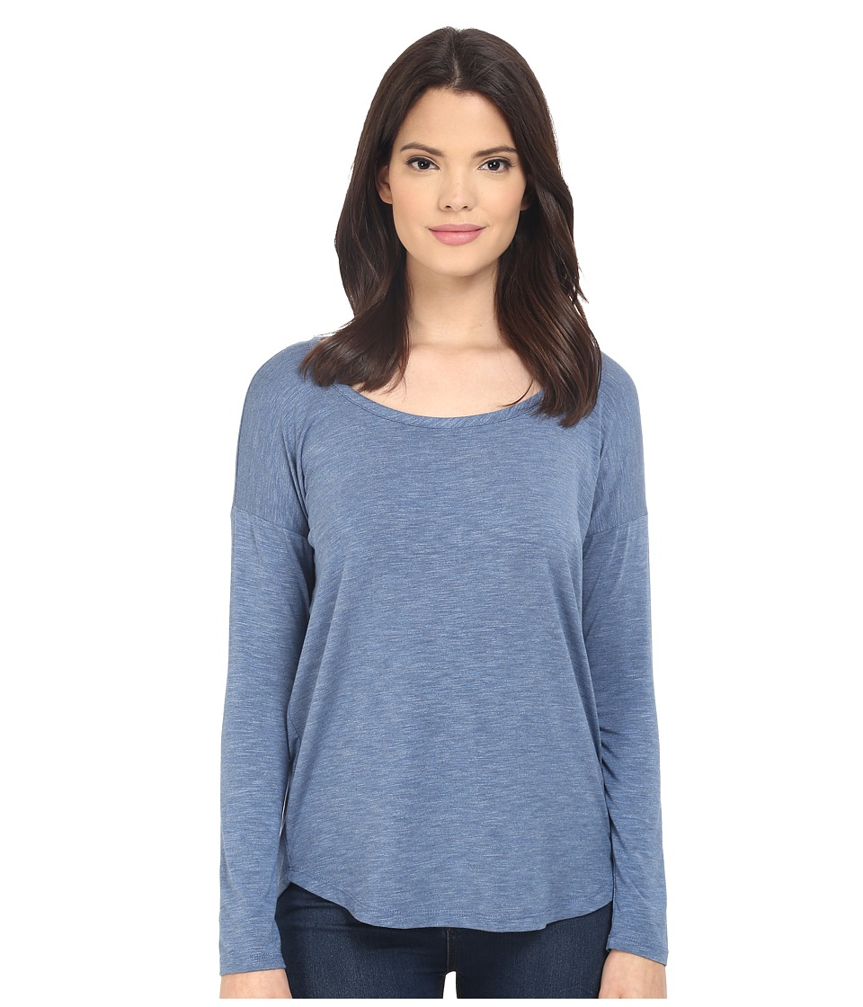Splendid - Heathered Spandex Jersey Long Sleeve (Heather Denim) Women's Clothing