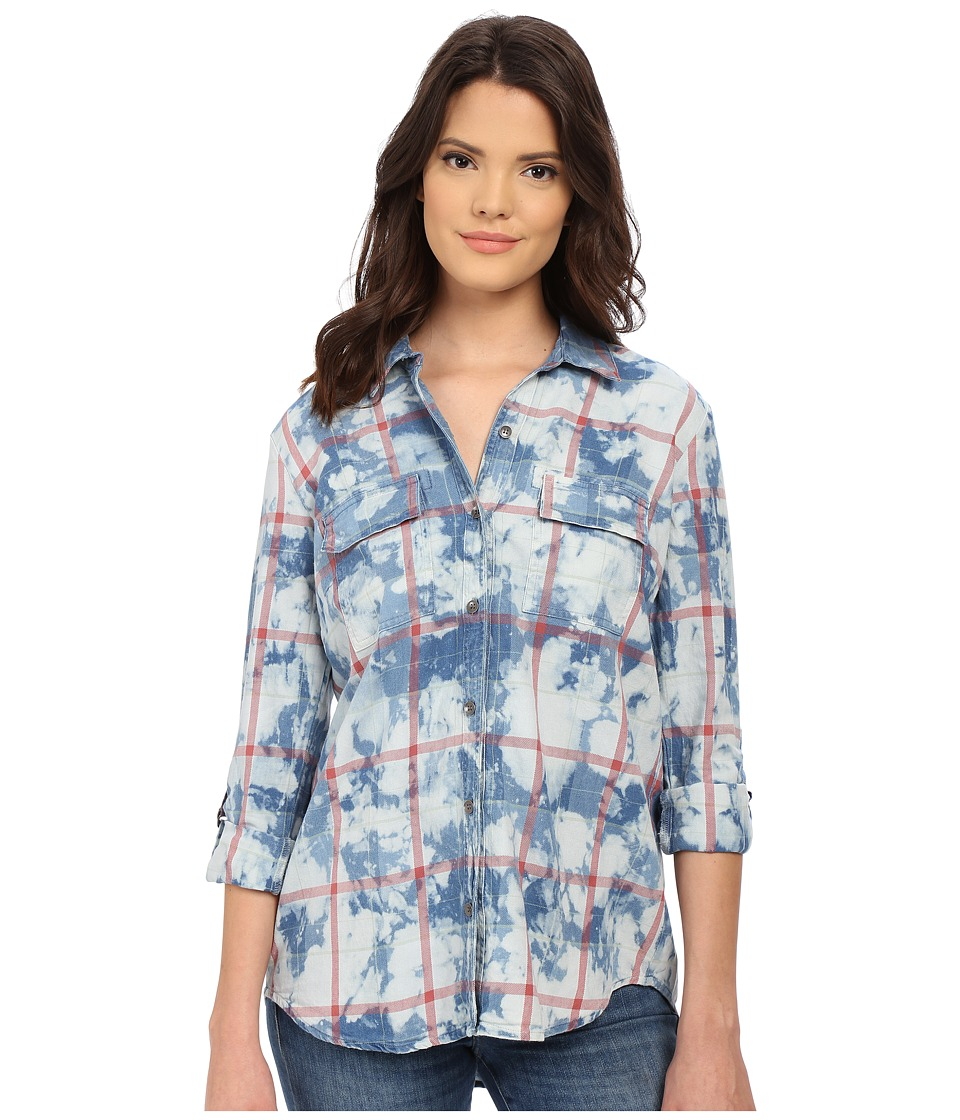 Splendid Casta Plaid Shirt (Sun Fade Wash) Women's Clothing