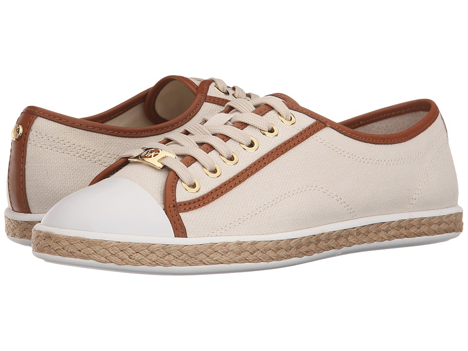 MICHAEL Michael Kors - Kristy Lace-Up (Ecru Small Weave Canvas/Vachetta) Women's Lace up casual Shoes