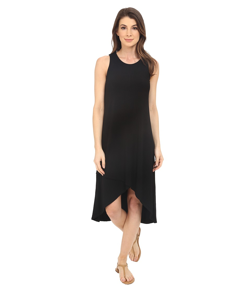 Splendid Rayon Jersey Midi Dress (Black) Women